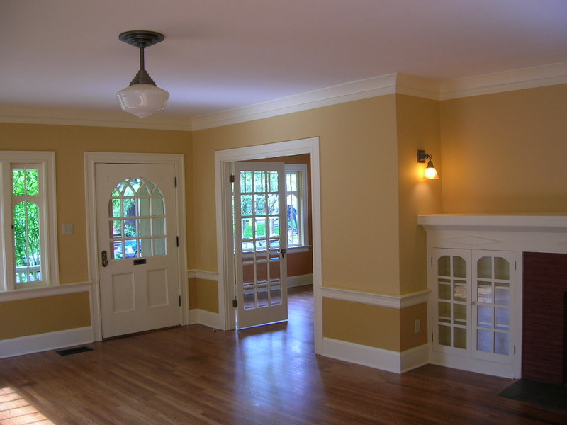 Delightful Interior House Painting Image Highlighting Doors, Windows, ...