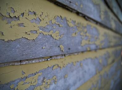Peeling Paint On Wood Clapboards