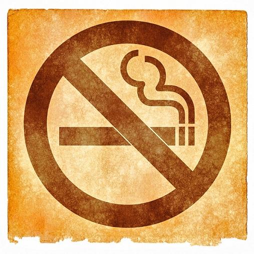 No-smoking sign to prevent smoke damage