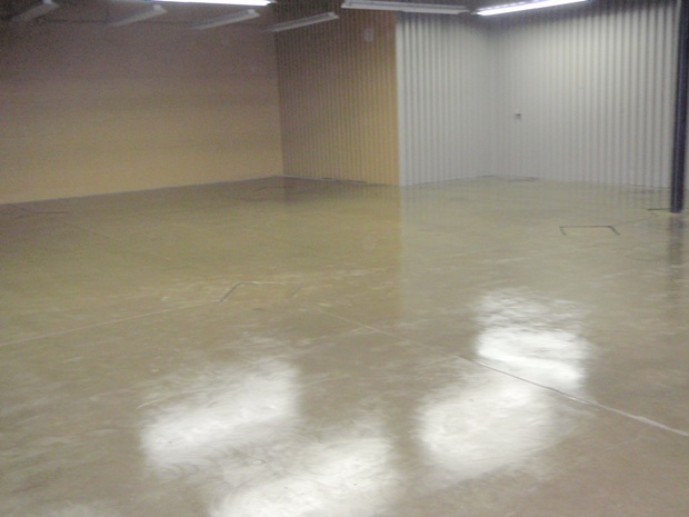 Image of concrete polishing floor job