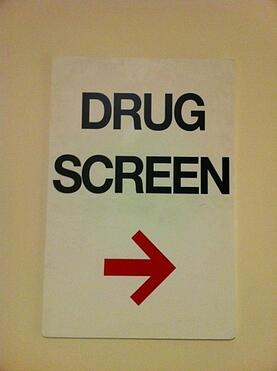 Painting contractor drug testing sign