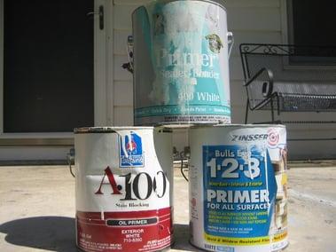 House Paint Primer Cans Image