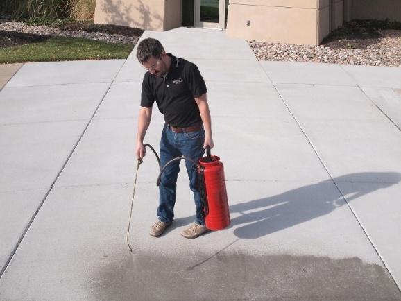 Concrete Sealing Application Image