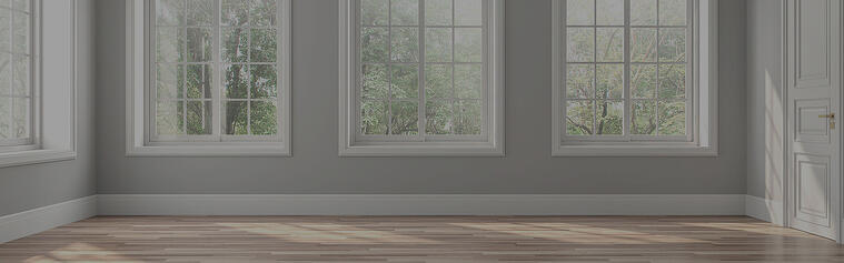 Fresh paint job in residential living room