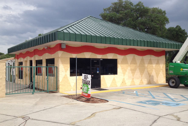 Exterior of business after commercial painting job