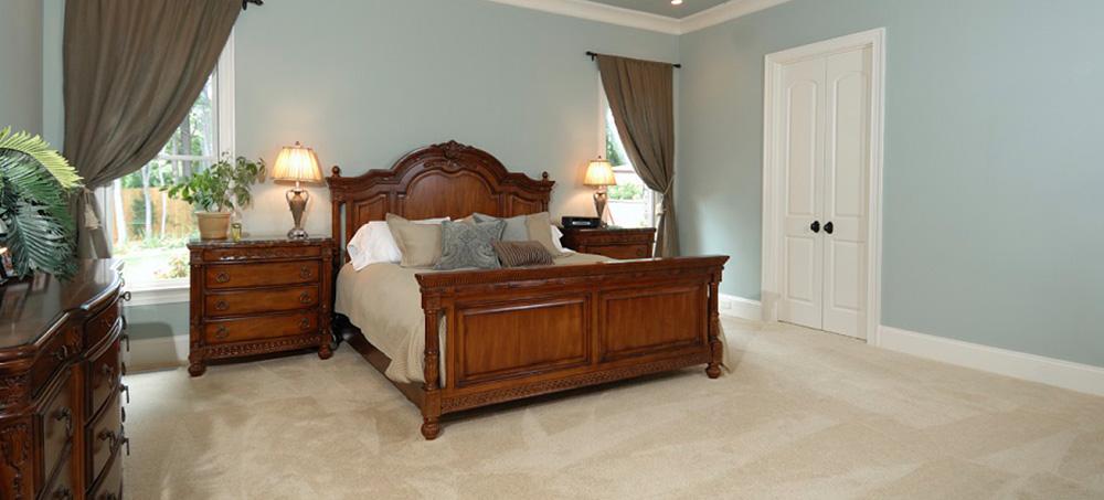 Freshly painted bedroom in residential home